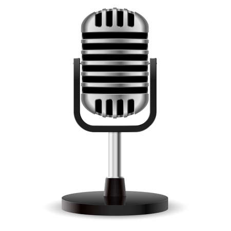 Microphone. Illustration on white background for design Vector
