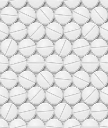 white pills: Seamless texture of pill. Illustration for design