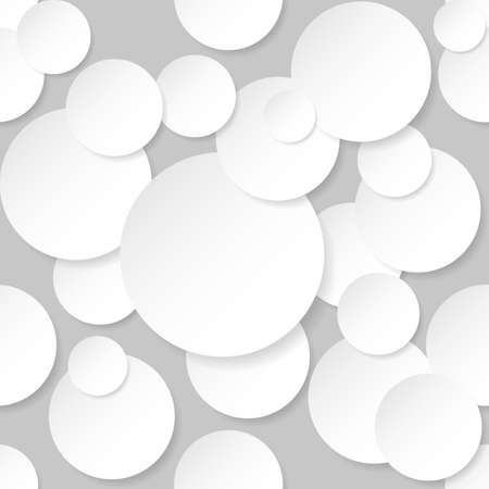 random: Seamless texture circles. Illustration on grey background.