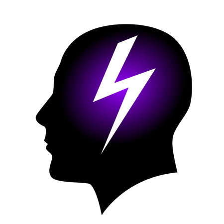 Human head brainstorming. Illustration on white background for creative design Stock Vector - 17989346
