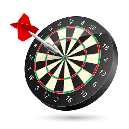 sports bar: Dartboard with dart. Illustration on white background