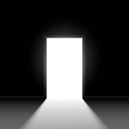 Resumen puerta abierta. Ilustración sobre fondo negro Foto de archivo - 18264617