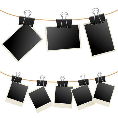 바인더: Photo with binder.  Illustration on white background 일러스트