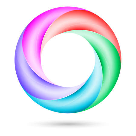 Colorful spiral ring.  Illustration on white background Stock Vector - 18383165