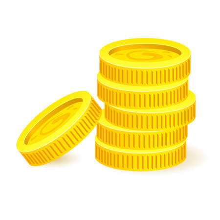 Gold coins. Illustration on white background for design Stock Vector - 18865131