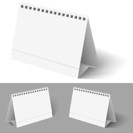 calendario da tavolo: Calendario da tavolo. Illustrazione su bianco per il design