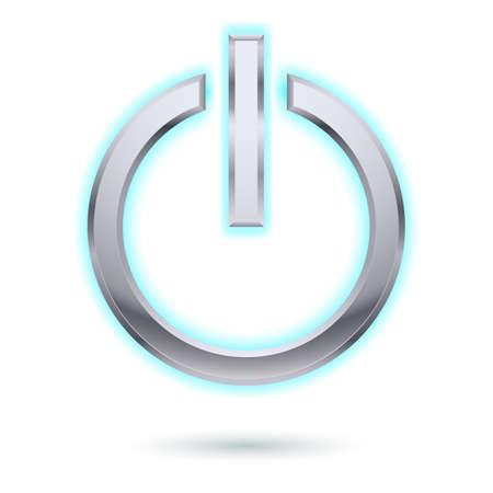 Power button. Illustration for design on white Vector