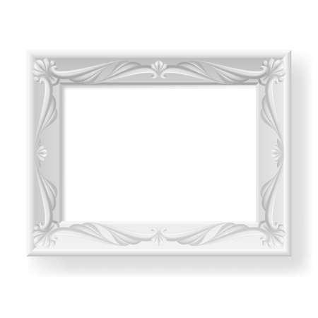 Silver picture frame. Illustration on white background for design. Stock Vector - 19664854