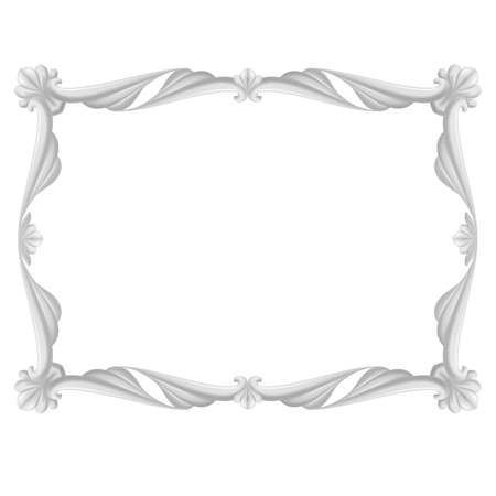 Gray beautiful frame. Illustration on white background  Vector