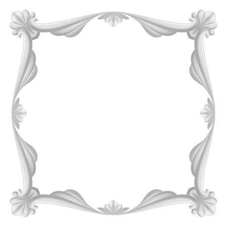 Hermoso marco gris. Ilustraci�n sobre fondo blanco para el dise�o.