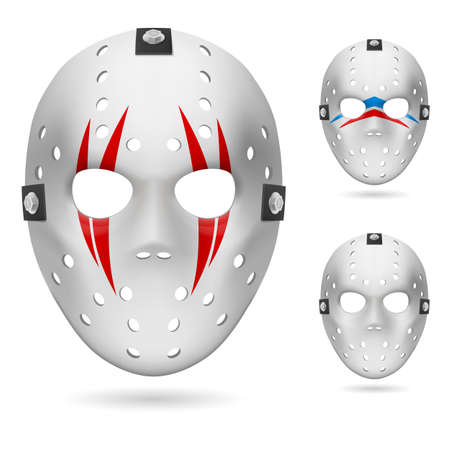 Hockey mask. Illustration on white background for design. Vector