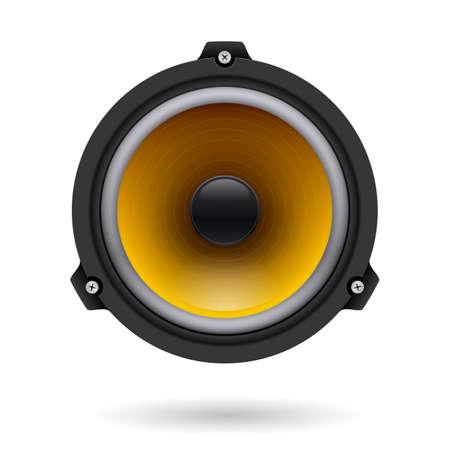 speaker box: Realistic speaker. Illustration on white background for design