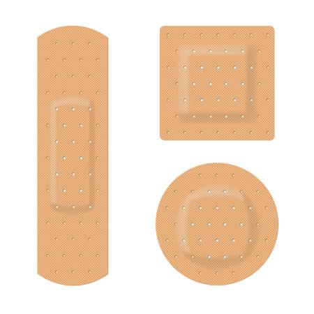 adhesive plaster: Medical plaster. Illustration on white background for design