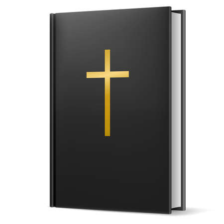 holy book: Bible. Illustration on black background for design. Illustration