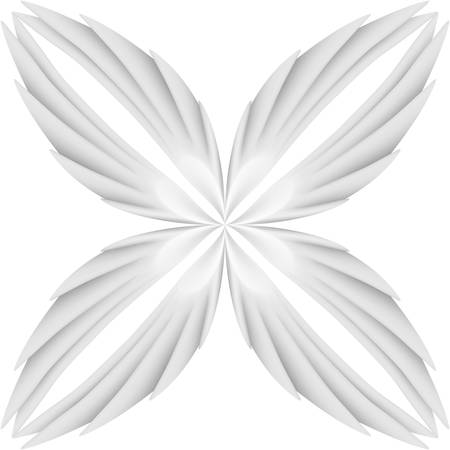 span: White wings pattern. Illustration on white background Illustration