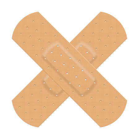 adhesive plaster: Medical adhesive plaster. Illustration on white background