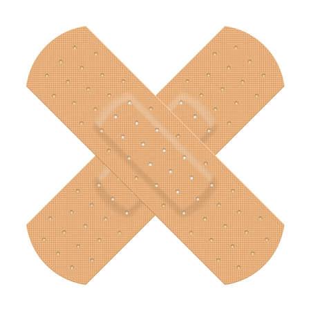 adhesive bandage: Medical adhesive plaster. Illustration on white background