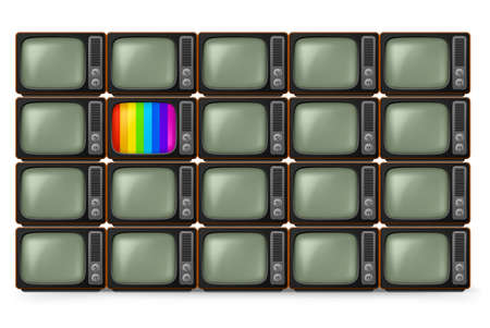 electricals: Realistic retro TV. Illustration on white background