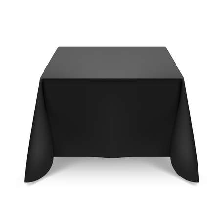 Black tablecloth. Illustration on white background for design Vector