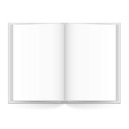 Open book with white pages. Illustration on white Vector
