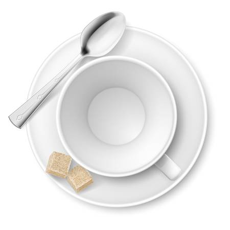 full time: Cup of sugar  Illustration on white background