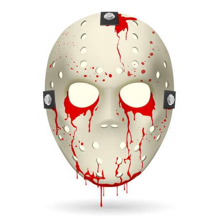 Bloody Hockey Mask  Illustration on white background for design  Vector