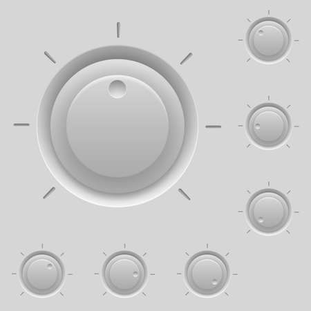 Control panel with switches. Illustration for design Vector