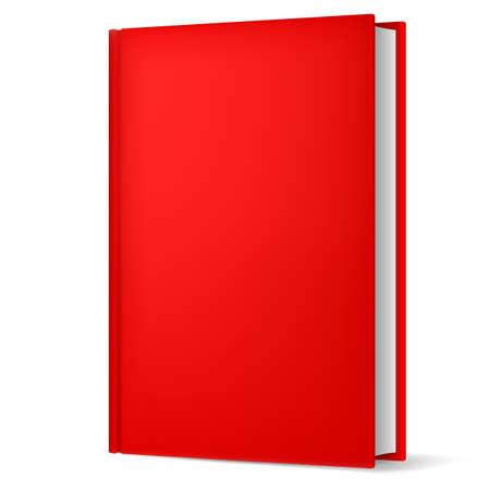 llanura: Ilustración del libro rojo clásico en vista vertical frente aislado sobre fondo blanco. Vectores