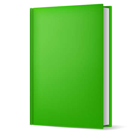 Illustration of classic green book in front vertical view isolated on white background. Stock Vector - 21575885