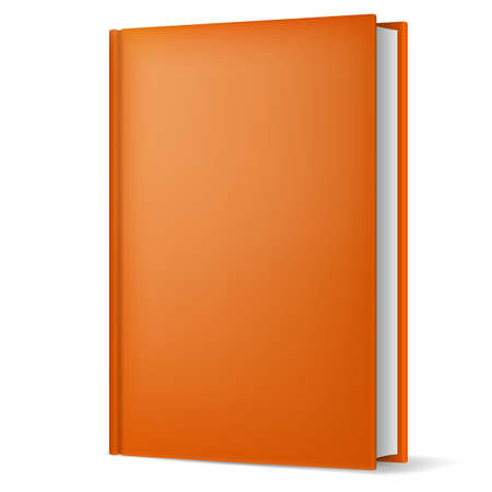 Illustration of classic light brown book in front vertical view isolated on white background. Stock Vector - 21575890