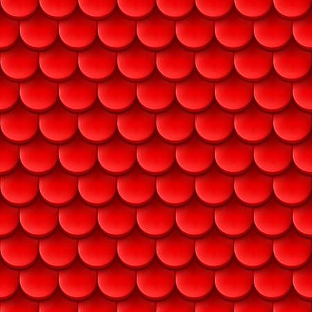 Abstracte achtergrond met dakpan patroon in rode kleur. Vector Illustratie