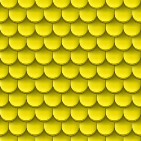 home protection: Abstract background with roof tile pattern in yellow color.