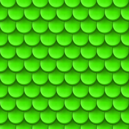 roofing: Abstract background with roof tile pattern in green color.