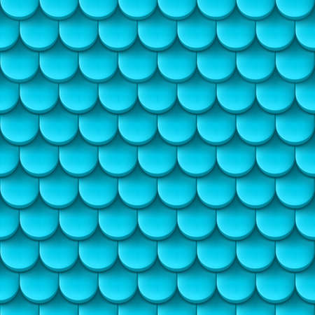shingles: Abstract background with roof tile pattern in light blue color. Illustration