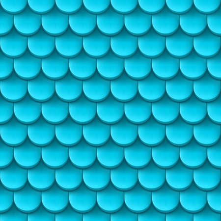 tile roof: Astratto sfondo con pattern tegola di colore azzurro. Vettoriali