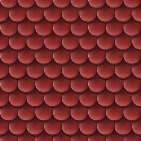 roof tile: Abstract background with roof tile pattern in terra-cotta colour. Illustration