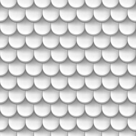 tile roof: Astratto sfondo con pattern tegola di colore bianco.