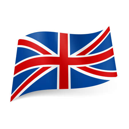 National flag of Great Britain, called Union Jack. Blue, red and white colored banner. Stock Vector - 21575943