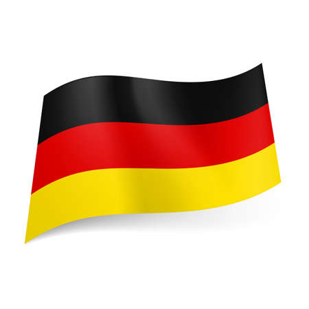 National flag of Germany: black, red and yellow horizontal stripes. Stock Vector - 21575956