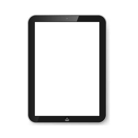 Black tablet with blank screen isolated on white. Modern technologies. Stock Vector - 21576017
