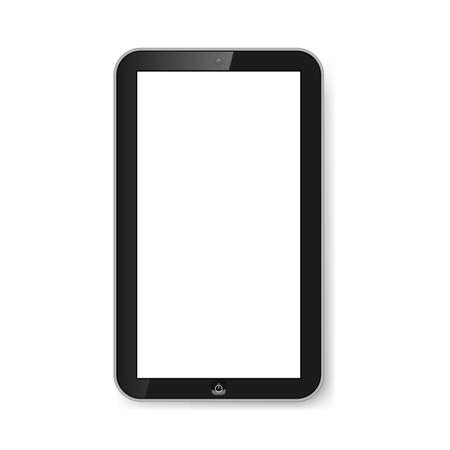 Touchpad with blank screen isolated on white. Modern technologies. Stock Vector - 21576019