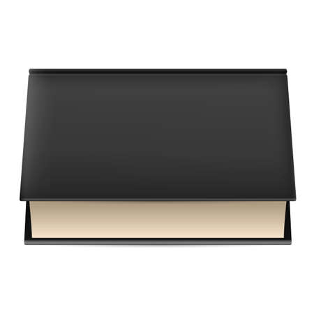 Illustration of thick book in black cover isolated on white background. Stock Vector - 21760398
