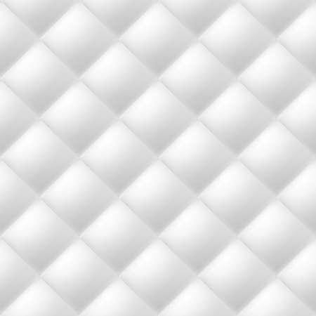 Abstract soft textured background with squares in white. Close-up view.  Vector