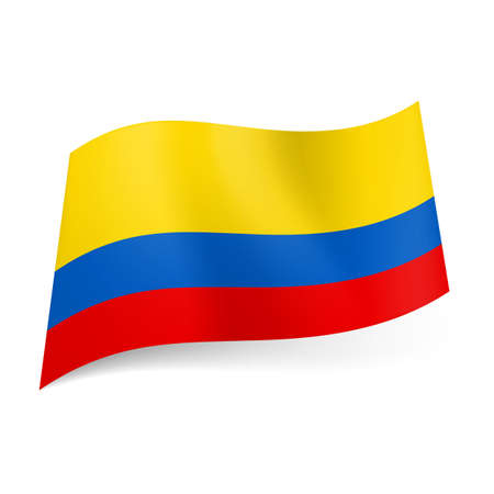 colombian: National flag of Colombia: wide red, narrow blue and red horizontal stripes.
