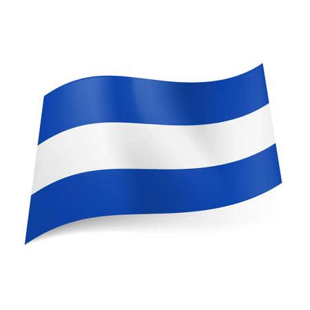 bandera de el salvador: Bandera nacional de El Salvador: franja blanca central entre los azules.