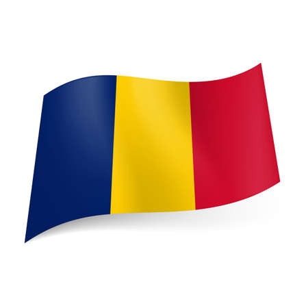 romania flag: National flag of Romania: blue, yellow and red vertical stripes. Illustration