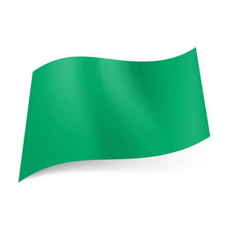 ex: Former national flag of Libya, which represents solid green field. It was abolished in 2011. Illustration