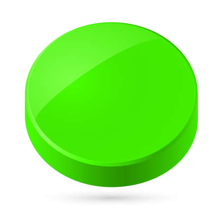 disc: Illustration of green disk isolated on white background.
