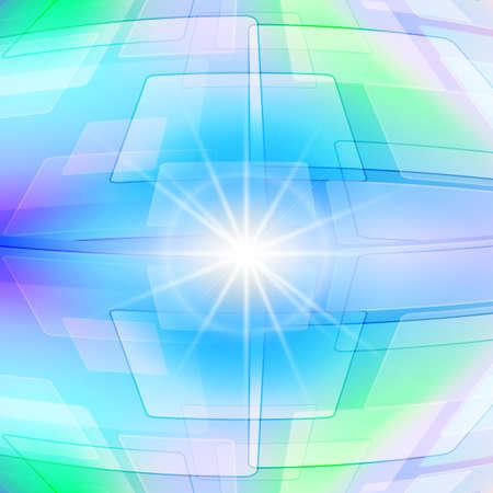 reflejo en espejo: Fondo geom�trico abstracto en tonos claros con destellos brillantes en el centro. Reflexi�n en el espejo. Vectores