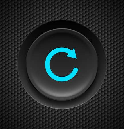 탄소 배경에 파란색 반복 기호 검은 색 버튼을 클릭합니다.